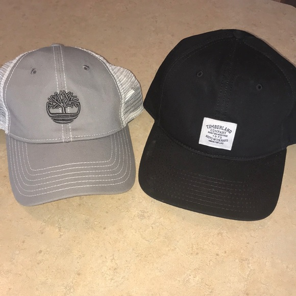 08755dca Timberland black & gray adjustable hat bundle. M_5b4a3caa7386bc3eb15540ac